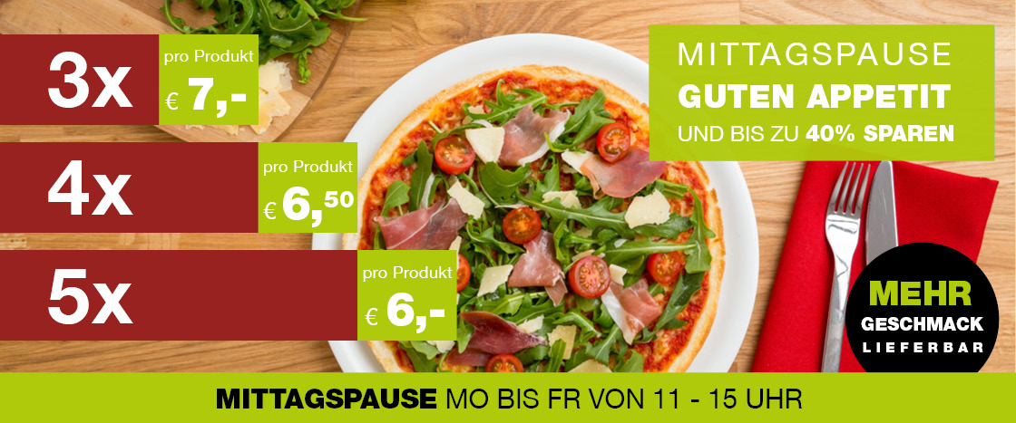 Mittagspause bei WORLD OF PIZZA