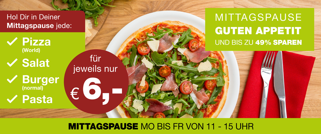 WORLD OF PIZZA Mittagspause in Dessau