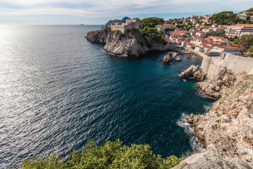 Walls of the Old Town of Dubrovnik, Croatia