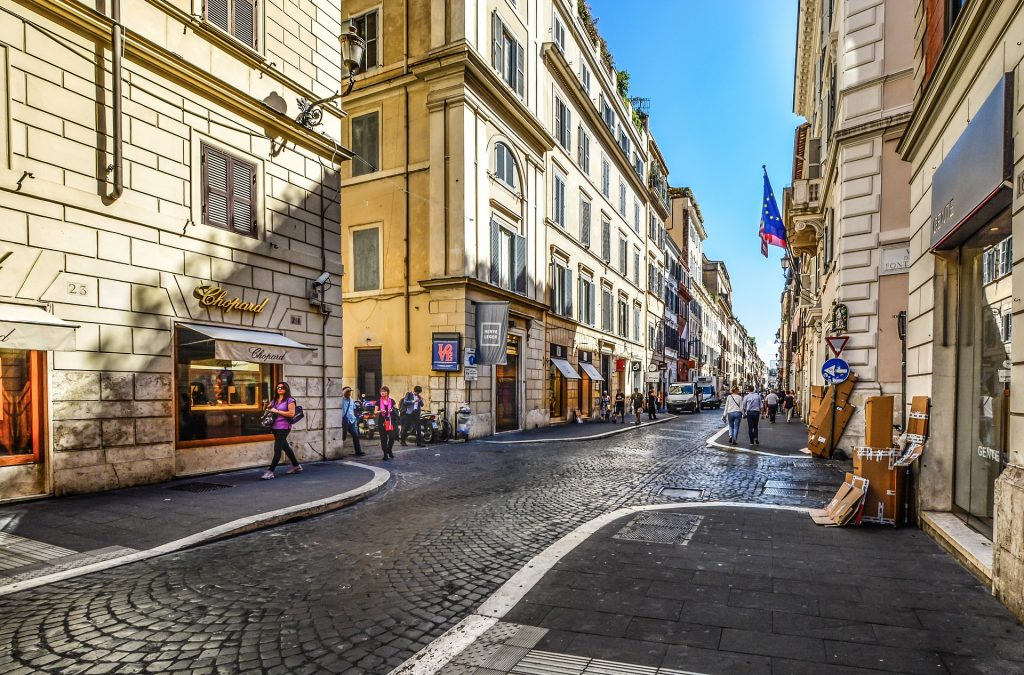 boutiques and shopping in Rome