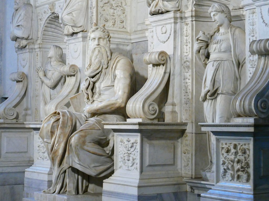 Michelangelo's two-meter tall marble sculpture of Moses