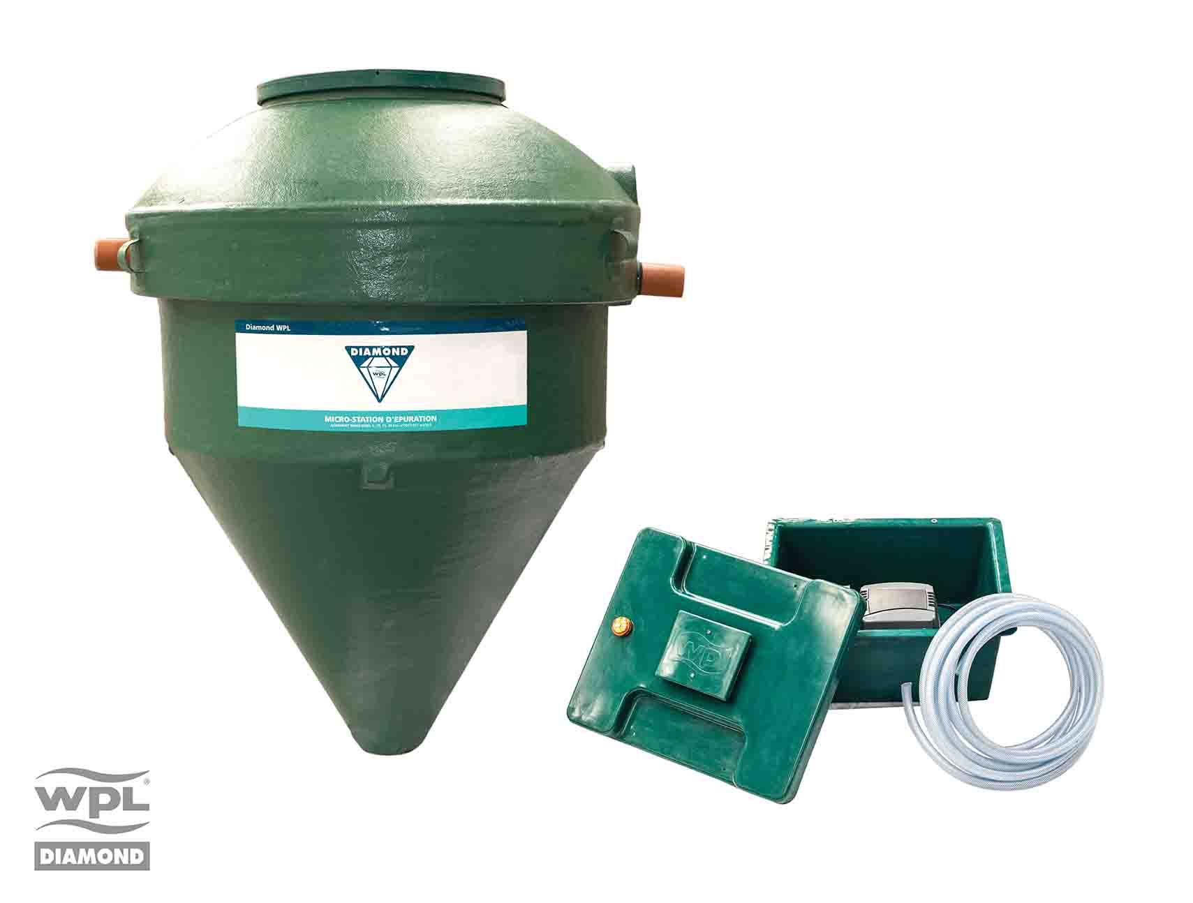 Micro-station d'épuration WPL Diamond simple fiable et discret