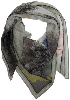 wrq.e.d le Penseur scarf