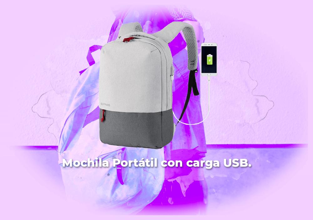 Sorteo Mochila para Portátil 15,6″ con Puerto de Carga USB.