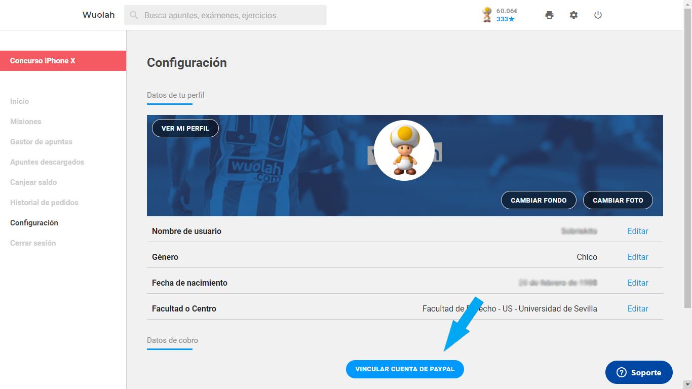 Acceder a administrador de perfil