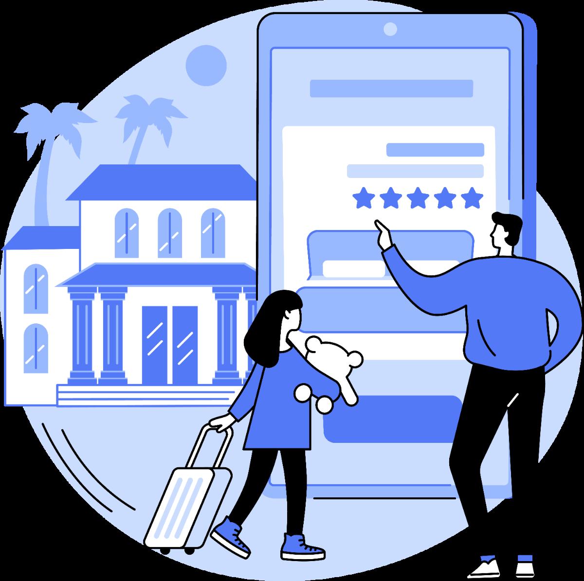 two customers on self-storage website