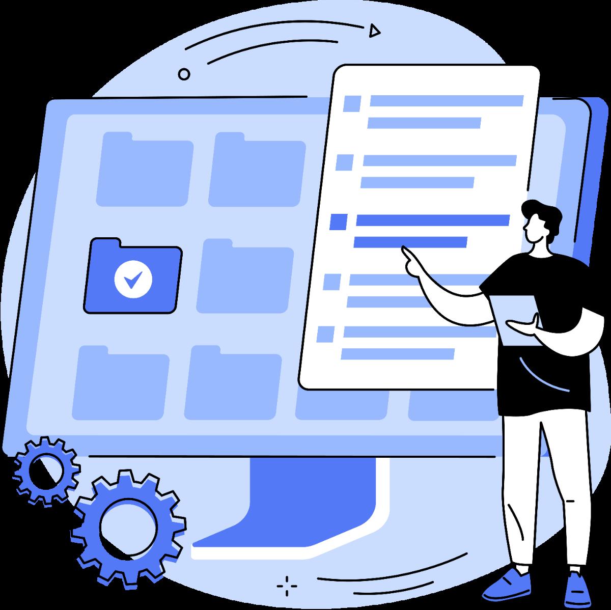 person designing their self-storage website