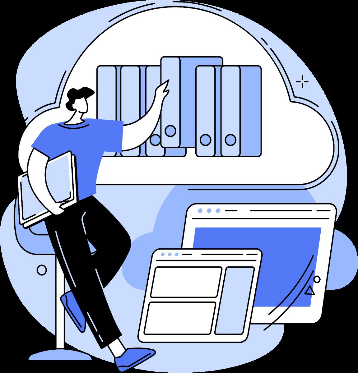 Man managing online bookings