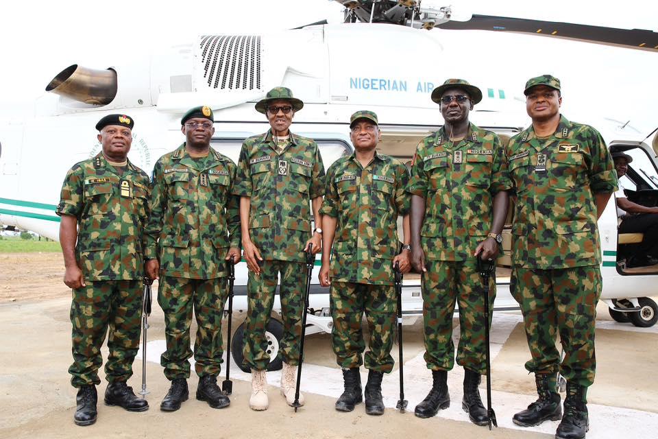Buhari in military dress