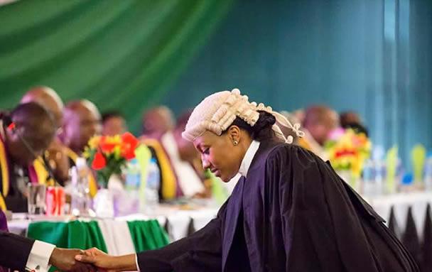 Halima Buhari was called to bar today Read more: https://www.naij.com/891762-buharis-daughter-call-bar-ceremony-abuja-photos.html