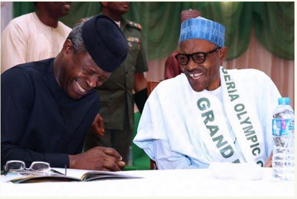 Caption this photo of President Buhari and Vice President Osinbajo