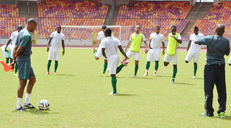 Super Eagles in training