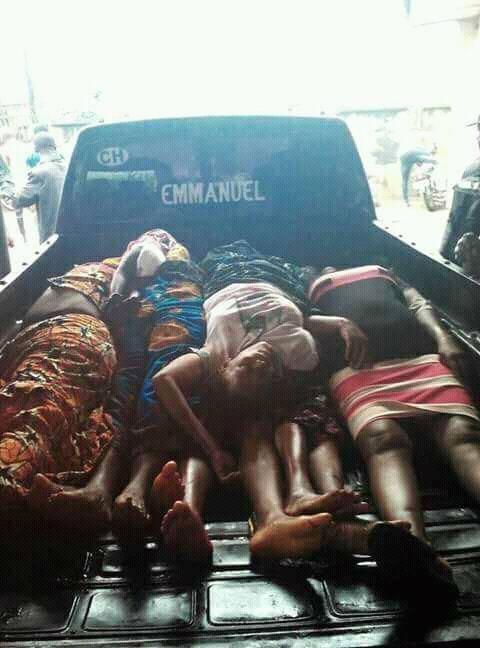 Casualties in the Ozubulu church shooting in Anambra.