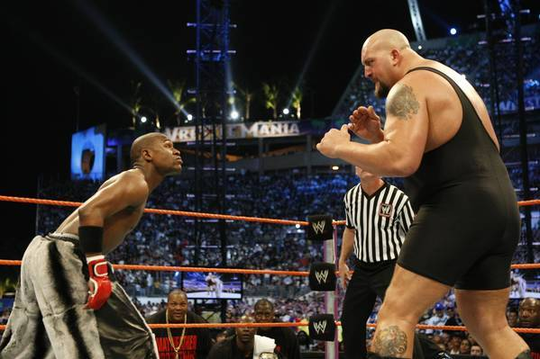 mayweather vs big show crossover fight