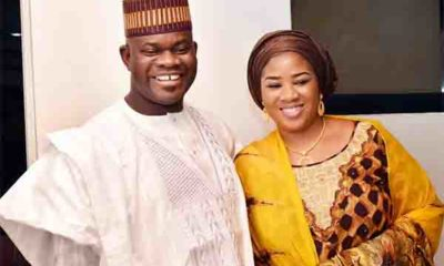 Gov Yahaya Bello and wife