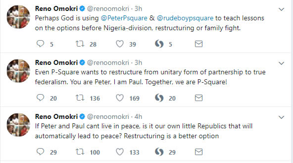 Reno tweets about psquare