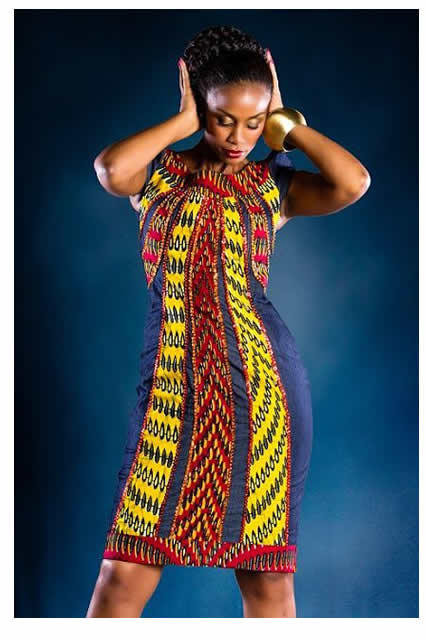 47ac8a7a58 ankara-print-African-Print-On-Denim-Dresses- WuzupNigeria