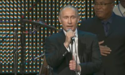 Vladimir Putin sings Fats Domino's Blueberry Hill