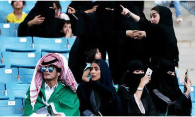 Saudi Arabia women in Stadium