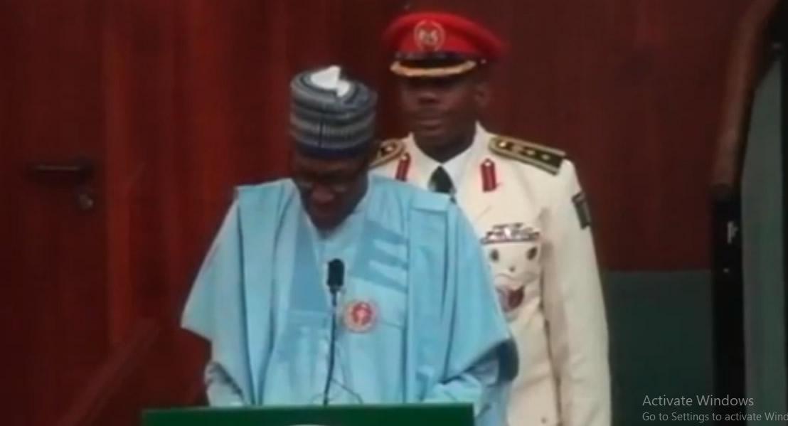Buhari Presents budget 2018