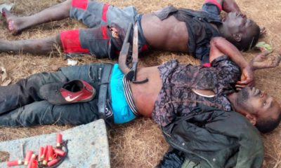 robbers shot dead at Dangoote cement factory in Ibese