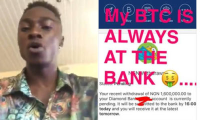 Star Alexzy Markson says not all people making money online are fraudsters, #EndSARS concurrency bitcoins