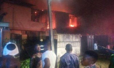 fire destroys duplex houses