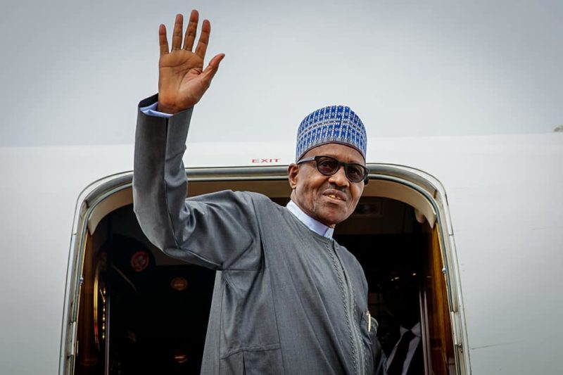 Image result for Buhari leaves for Joint ECOWAS/ECCAS summit