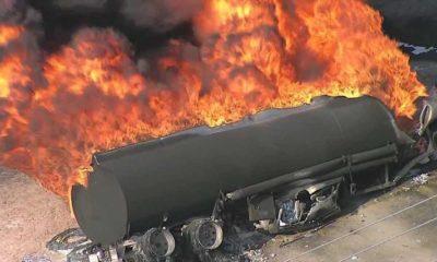 fallen tanker