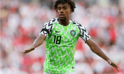 Alex Iwobi in new jersey