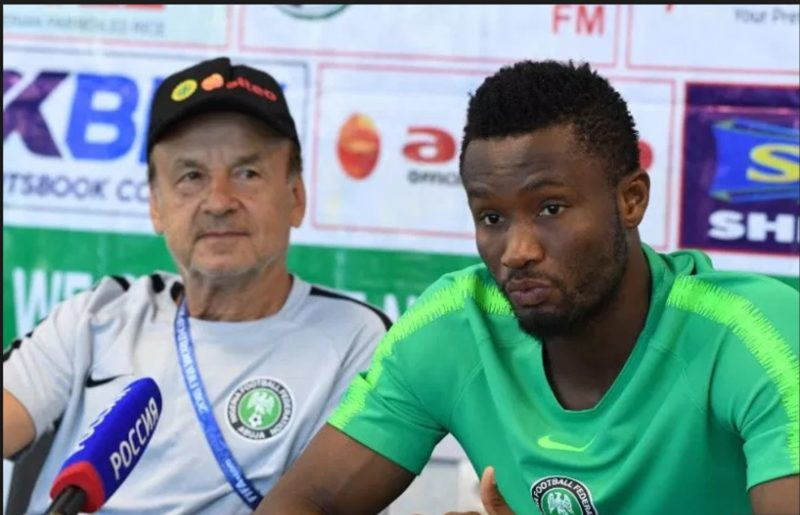 Rohr and Mikel Obi