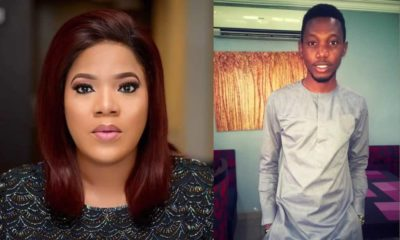 Toyin Abraham and bus accident survivor