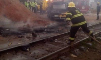 Train collide