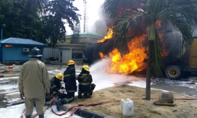 Fire outbreak at Ecobank