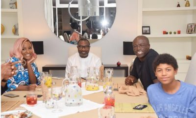 Seal, his son, Henry and the Otedola's