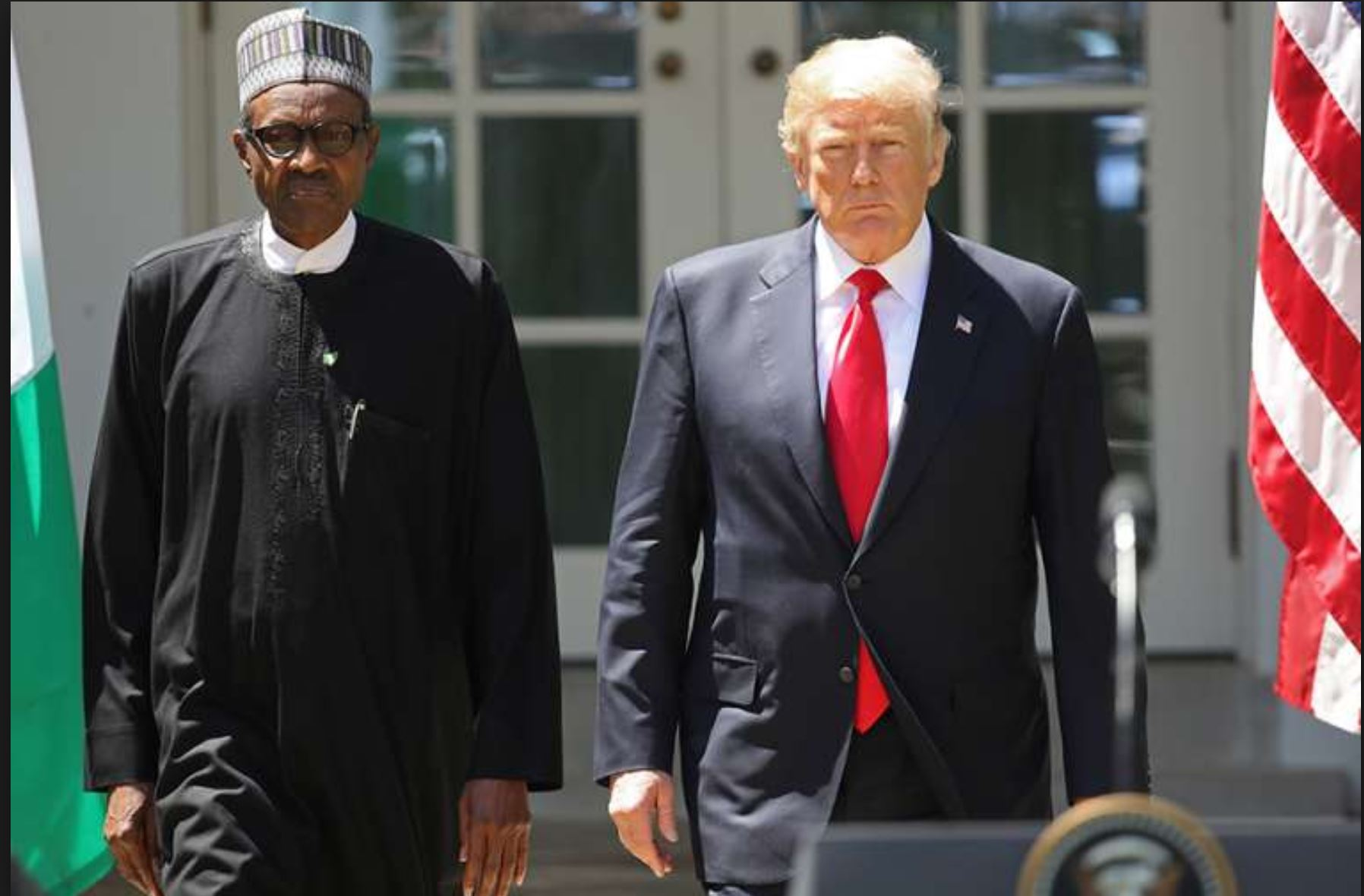 Image result for buhari's reaction to trump's latest ban