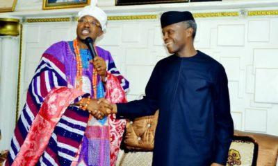 Oba Akanbi and Prof Yemi Osinbajo