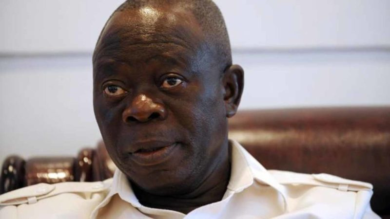 Oshiomole posed police commissioner