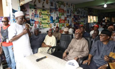 Atiku in a Town Hall meeting in Osun State to canvass for voters support for PDP governorship candidate Ademola Adeleke on Tuesday