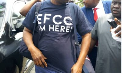 Fayose arrives EFCC'S office