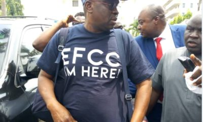 Fayose arrives EFCC'S office