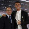 Cristiano Ronaldo and Real Madrid's president Florentino Perez