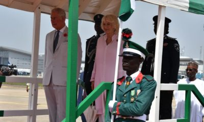 Prince Charles arrives Nigeria