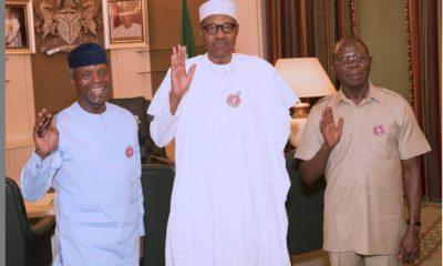 Buhari, Osinbajo, Oshiomhole