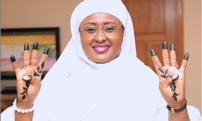 Aisha Buhari gets 'Four More Years' tattoo to campaign for hubby