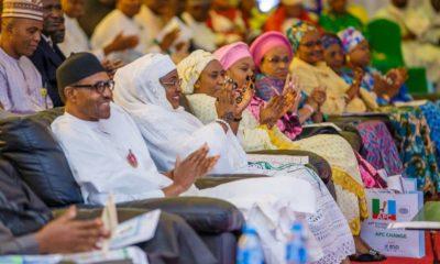 Buhari and his wife, Aisha
