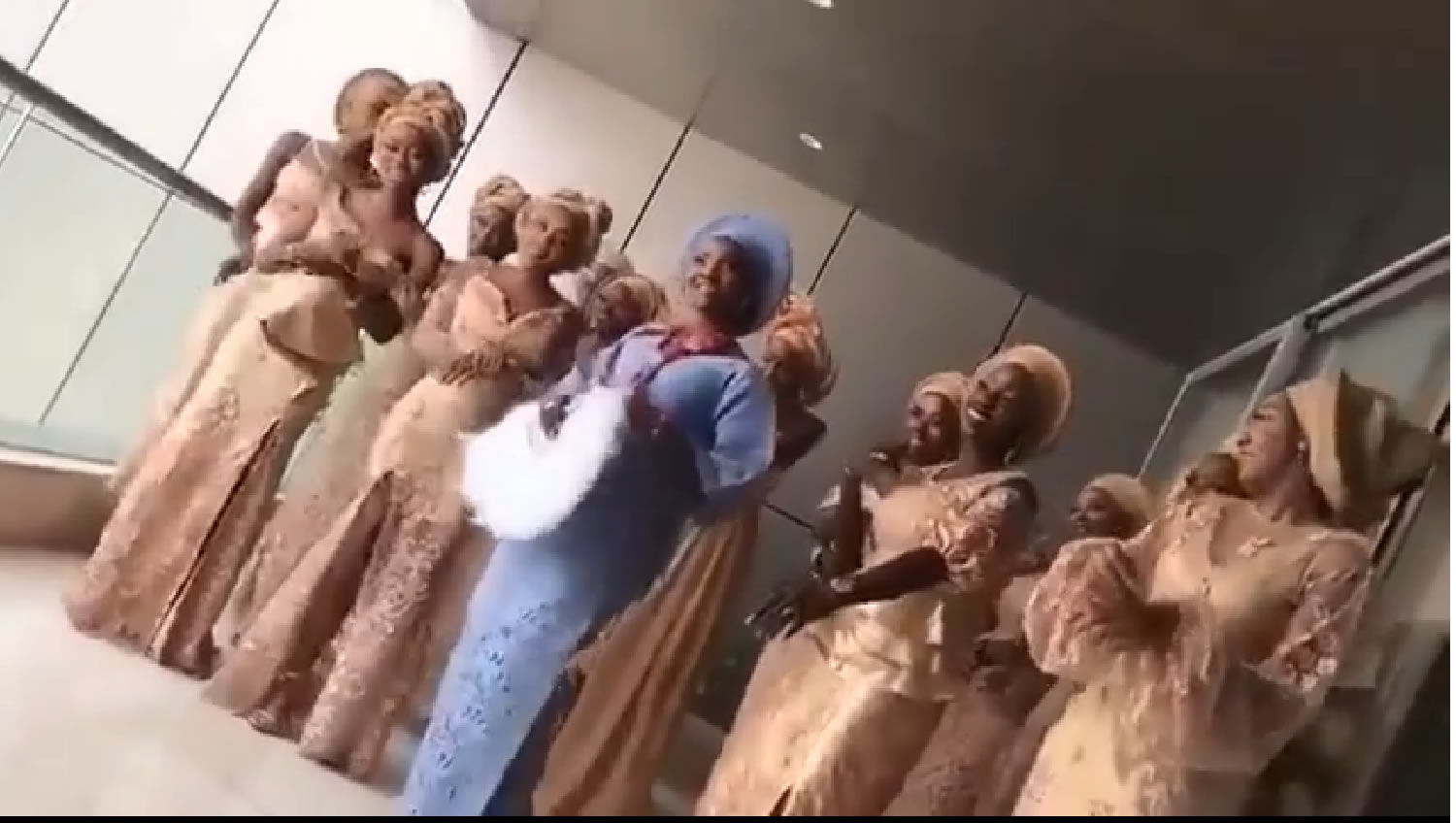 Simi and her brides maids