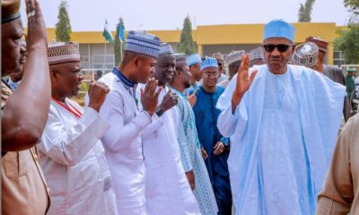 Buhari departs his hometown, Daura