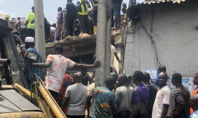 Collapsed Lagos building
