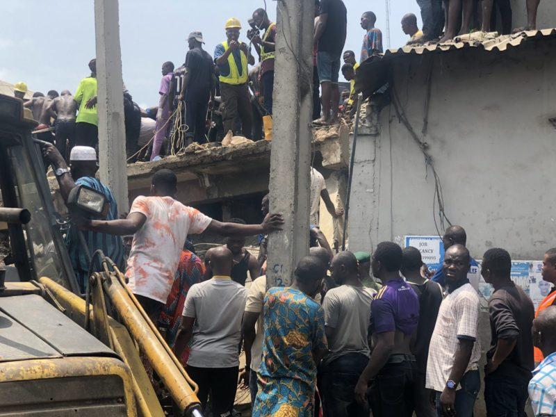 Collapsed Lagos building